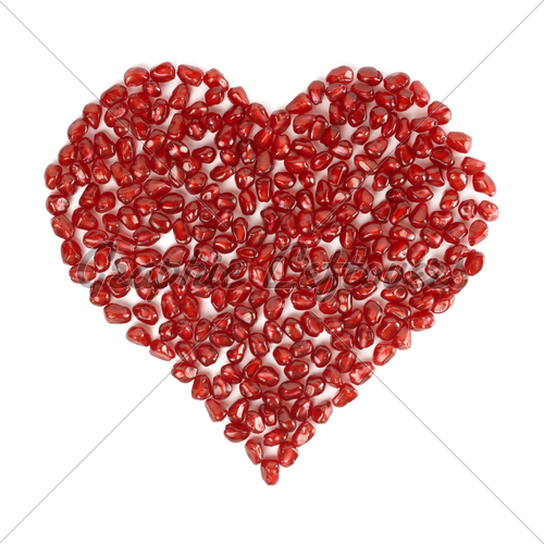 valentines-heart-made-of-pomegranate-seeds